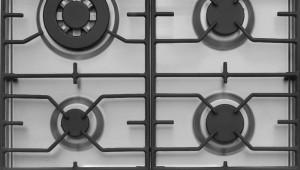 Plita incorporabila Hansa BHGI63111035, 4 arzatoare, aprindere electrica, 60 cm, Wok, Inox