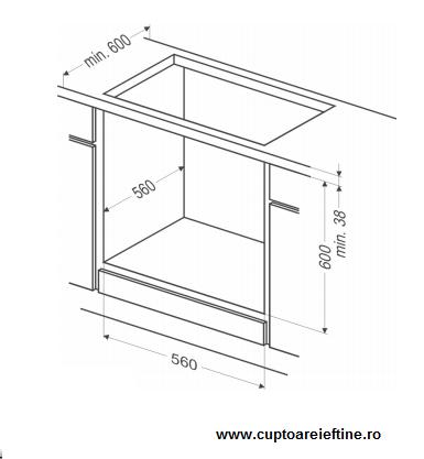 dimensiuni cuptor incorporabil Hansa BOEI64030030
