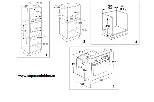 dimensiuni cuptor incorporabil