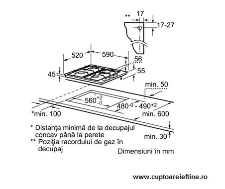 asamblare plita incorporabila Bosch POH616B10E