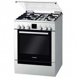 Aragaz mixt Bosch HGV745250, 4 arzatoare, Gaz, Cuptor electric, Clasa A, 60 cm, Inox