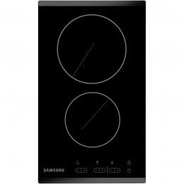 Plita incorporabila electrica Samsung C21RJAN, 2 zone vitroceramice, control touch, sticla neagra