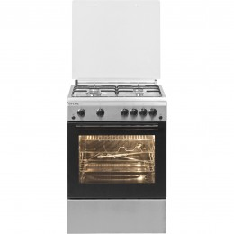 Aragaz Arctic AG 6612DTTLX, 4 arzatoare, grill, rotisor, timer, aprindere electrica, Inox
