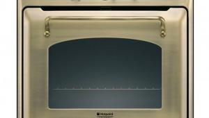 Cuptor incorporabil Hotpoint Traditional FT 850.1 (Bronzo)/HA S, Electric, Multifunctional, 7 programe, Grill, Clasa A, Ceas analogic, Ventilare tangentiala pentru racire, Culoare Bronzo