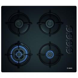 Plita incorporabila Bosch POH6B6B10, 4 Arzatoare, Gaz, Aprindere electrica, 60 cm, Negru