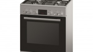Aragaz mixt Bosch HGD745255R, 4 arzatoare gaz, Cuptor electric, Clasa A, 60 cm, Inox