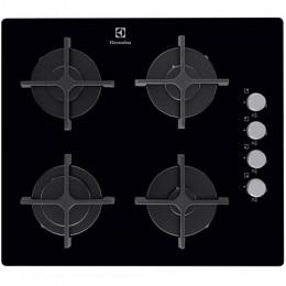 Plita incorporabila Electrolux EGT6142NOK, Gaz, 4 Arzatoare, Aprindere electrica, Sticla Neagra
