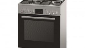 Aragaz mixt Bosch HGD745250, 4 arzatoare gaz, Cuptor electric, Clasa A, 60 cm, Inox
