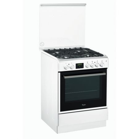 Aragaz Mixt Whirlpool ACMT 6332/WH, 6th Sense, Clasa A, Multifunctional