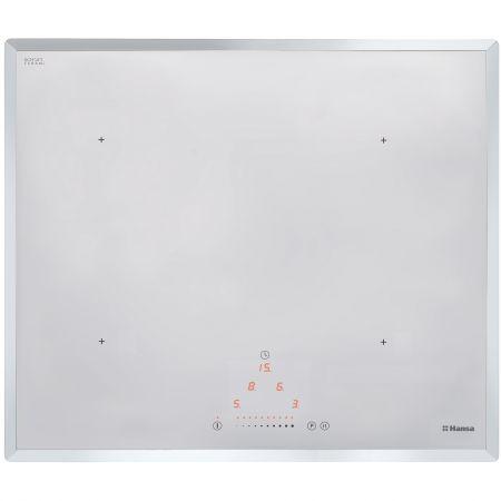 Plita incorporabila Hansa BHIW68303, Inductie, 4 Zone de gatit, Touch control, Sticla alba