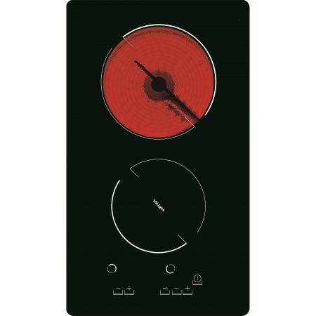 Plita incorporabila domino Hansa BHC36233030, Vitroceramica, 2 Zone de gatit, Touch control, Sticla neagra