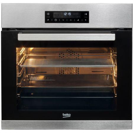 Cuptor incorporabil Beko BIMM22400XMS, Electric, Multifunctional, 71 l, 12 Functii, Clasa A, Grill, Autocuratare catalitica, Touch, Inox