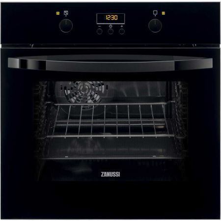 Cuptor electric multifunctional Zanussi ZOB35702BV, Clasa A, 57 L, 8 functii, Grill, Convectie, Timer electronic, Negru